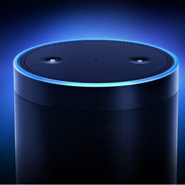 This is a picture showing amazon echo