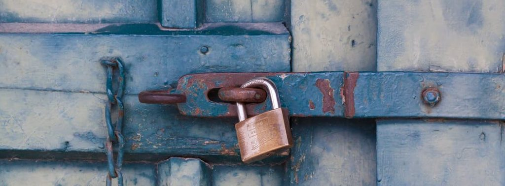 Picture showing a padlock symbolizing security